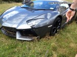 Crashed Lamborghini Aventador in New Zealand