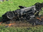 Crashed Rimac Concept_One driven by Richard Hammond - Image via 'The Grand Tour'