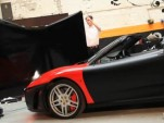 Creative FX team wrapping a Ferrari F430 Spider