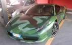 Fiat Heir Lapo Elkann Shows Off His Military-Pattern Ferrari 458