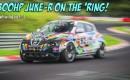 Custom Nissan Juke-R drives the Nürburgring Nordschleife in the wet