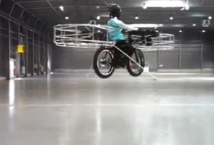 Flying Electric Bicycle Debuts In Prague, Will NYC Ban These Too?