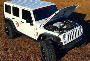 Dakota Customs' Jeep Wrangler Unlimited with supercharged 6.2-liter V-8 Hellcat engine