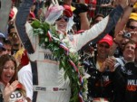 Dan Wheldon'sVictory Lane celebration at 2011 Indy 500 - Indianapolis MOtor Speedway photo
