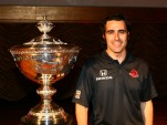 Dario Franchitti with the Astor Cup - courtesy INDYCAR