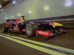 David Coulthard, commuting through the Lincoln Tunnel in the Red Bull Racing RB7