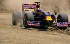 David Coulthard Tours Texas - In A Red Bull Renault F1 Car