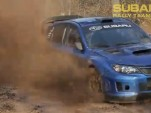 David Higgins testing the 2011 Subaru Rally Team USA WRX STI