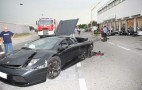 Lamborghini Crash Takes Out BMW Motorcycle Dealership