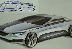 Detroit Autorama High School Design Competition 2014 winning sketch by Alex Fischer.