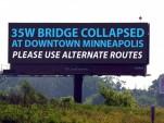 Digital billboard in Minneapolis, Minnesota
