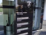 Display at Lamborghini's factory showing solar power production