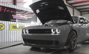 Dodge Challenger Hellcat makes 1,000 horsepower on the dyno
