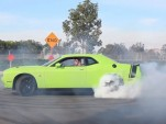 Dodge Challenger Scat Pack doing donuts on Hooniverse