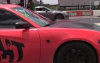 Dodge Charger SRT Hellcat Lines Up With A GT-R At The Strip: Video