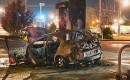 Dodge Neon SRT-4 burns after striking gas pump. Photo Suffolk County Sheriff via NY Daily News.