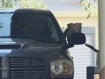 Kevin Federline stops by the drive-thru window at Del Taco in his tricked out Dodge Ram pickup truck