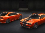 2016 Dodge Charger SRT and Challenger SRT in Go Mango