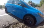 Ford Focus RS driver drifts into wall
