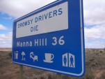 Drowsy drivers warning sign (photo by Flickr user Phil Robinson)