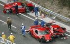 Eight Ferraris Crash In Expensive Pile-Up In Japan: Video