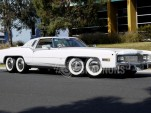 Eight-wheeled 1977 Cadillac Eldorado Biarritz. Images via Shannons.au