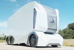Autonomous electric truck prototype can be controlled remotely
