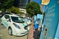 Electric Avenue charging stations in Portland, Oregon [photo: Portland General Electric]