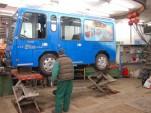 Electric bus in Zermatt, Switzerland