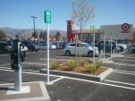 Electric-car charging stations at Target in Fremont, CA [photo by Wilson F. via ChargePoint Network]