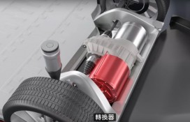 Electric motor, shown in 'How Does an Electric Car Work?' video by Patreon