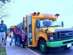 Electric school bus from Kings Canyon Unified School District, California