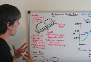 Engineering Explained discusses the key characteristics of performance brake pads