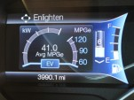 Enlighten display  -  Ford EcoGuide gauge cluster  -  2013 Ford C-Max Energi