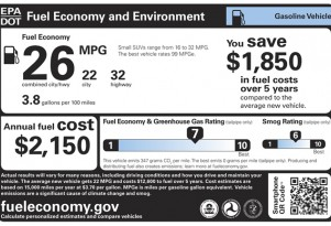 EPA gas-mileage labels accurate, helpful, unlike 2005: Consumer Reports