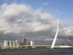 Erasmus Bridge, Rotterdam, by Flickr user Martin de Lusenet (used under CC License)