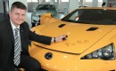 Eric Weinberger and his Lexus LFA Nrburgring Edition signed by Akio Toyoda