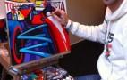 Erwin Dazelle Paints Long Beach Grand Prix Race Poster