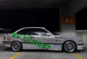 EV West's electric BMW M3 Pikes Peak Hill Climb car