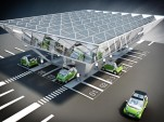 Evoasis charging station rendering