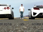 Exotic Revolution pits an Acura NSX against a Nissan GT-R in a drag race