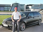 F1 Champ Jenson Button with Mercedes-Benz C-Class DR 520 Estate (Source: Mercedes)