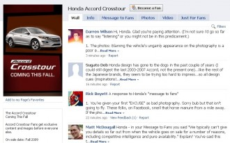 Follow-up: Honda Responds To Crosstour-Bashers On Facebook