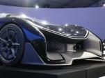 Faraday Future FFZERO1 Concept, unveiled at 2016 Consumer Electronics Show, Las Vegas