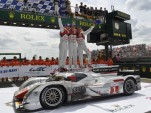 Fassler, Lotterer, Treluyer celebrate their second straight Le Mans win - Anne Proffit photo