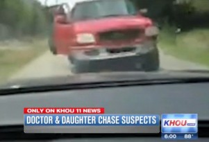 Father-daughter burglar chase ends in crash, victory