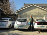 Felix Kramer and his fleet: Nissan LEAF, Chevy Volt, Plug in Prius
