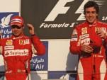 Fernando Alonso and Felipe Massa go 1-2 at the 2010 Bahrain GP