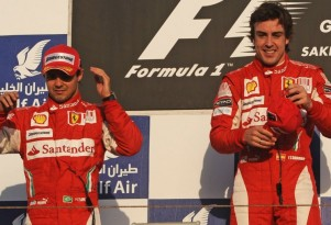 Fernando Alonso and Felipe Massa go 1-2 at the 2010 Bahrain GP