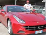 Fernando Alonso and his new Ferrari FF